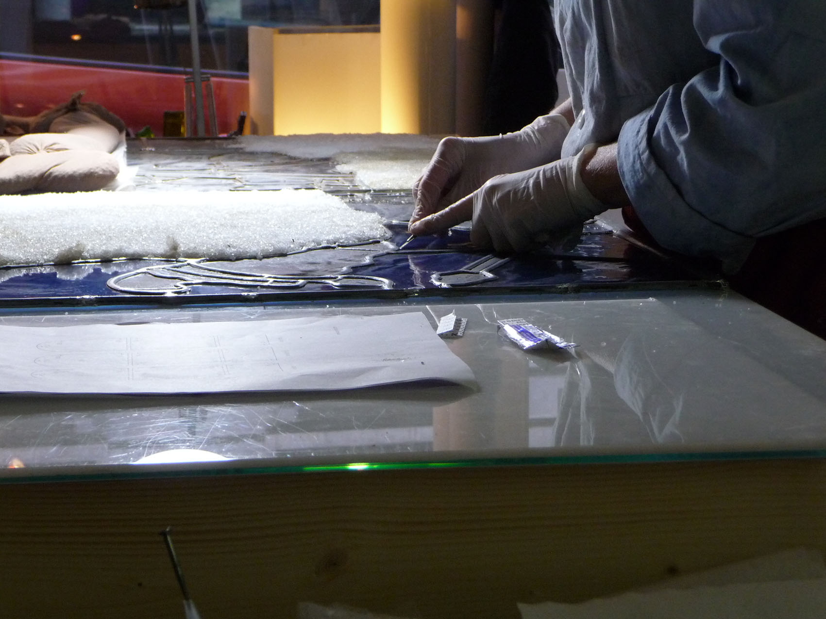 Restauration rénovation entretien vitrail vitraux Paris musée