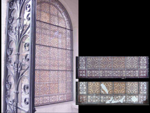 Paris - Cimetière du Père Lachaise - Chapelle  privée - Etat avant et après restauration