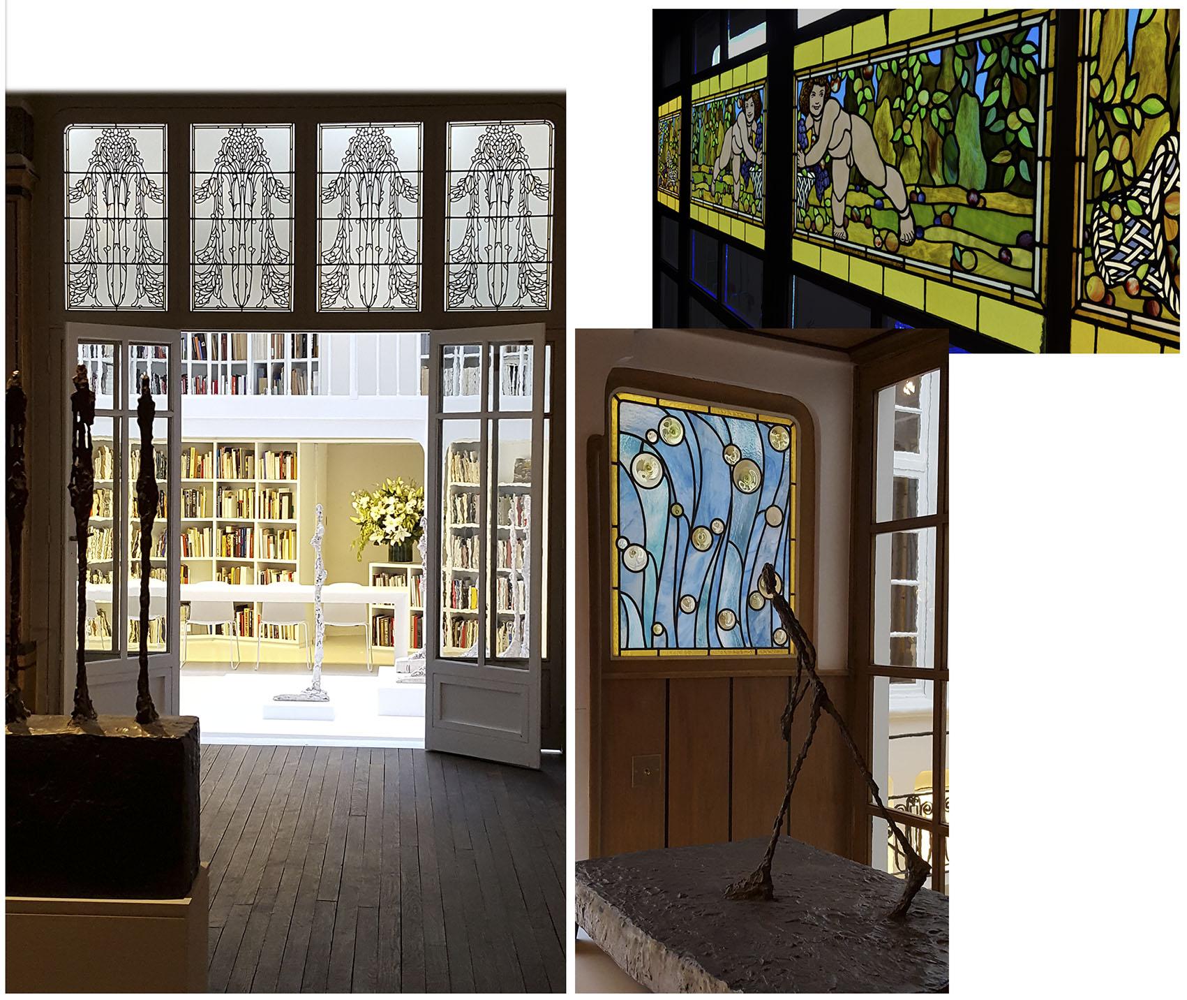Paris,Cathédrale Notre-Dame, baie 208, panneau b5, restauration en atelier 2017